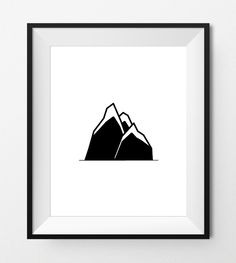Digital Print Art - MOUNTAINS - Black and White - Native american art, mountain symbol, indian wall art, digital printable -Instant Download by FlavoreePrints on Etsy