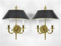 Regency tole and brass sconces from the 1950's $1,199.00