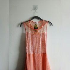 1a0780e930 PEACH SUMMER MAXI DRESS • Peach maxi dress w/embellished - Depop Peach Maxi  Dresses