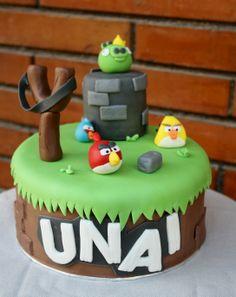 tarta angry birds cake - fondant