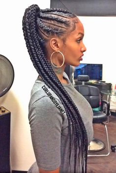 Braided Cornrow Ponytail ❤️ Those who think that ponytail hairstyles are boring are going to change their mind today! Our latest ideas are here to show a pony from a new perspective. My Hairstyle, Box Braids Hairstyles, Girl Hairstyles, Protective Hairstyles, Protective Styles, Teenage Hairstyles, Brunette Hairstyles, Cornrolls Hairstyles Braids, Braided Hairstyles For Black Hair