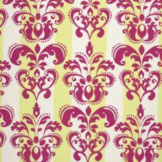 Annette Tatum - Classica Sateen - Scroll in Berry    curtain fabric idea