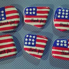 Painted Rock Flag Thank a Vet Veterans Day Northeast Ohio Rocks! #northeastohiorocks