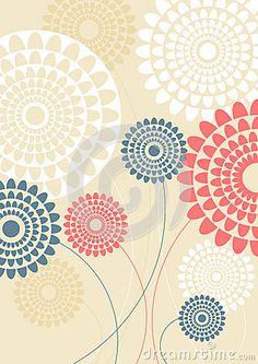 (C) Celia Ascenso - Flower silhouettes bouquet vintage style