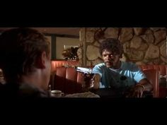 "This is one of the mythical scenes of the movie ""Pulp Fiction"".  These kind of scenes remains in the mind and is kind of unforgettable."