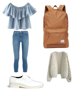 """Sin título #2"" by yes-ame on Polyvore featuring moda, WithChic, L'Agence, Robert Clergerie, Herschel Supply Co. y Chicwish"