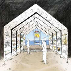 Julie Stout, Concept sketch for the New Zealand Exhibition at the 14th Venice…