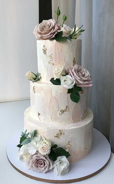 50 Most Beautiful Wedding Cakes, wedding cake ideas, amazing wedding cake cake decorating recipes kuchen kindergeburtstag cakes ideas Wedding Cake Centerpieces, Blush Wedding Cakes, Pretty Wedding Cakes, Floral Wedding Cakes, Wedding Cake Rustic, Elegant Wedding Cakes, Beautiful Wedding Cakes, Wedding Cake Designs, Cake Wedding