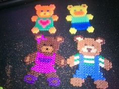 *COOL* Perler Bead Teddy Bear - Earrings, Ornaments, Gift Tags, Key chain, gift bags, party favors