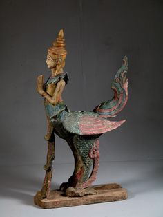 In Southeast Asian mythology Kinnaras, are depicted as half-bird, half-woman creatures, and are one of the many creatures that inhabit the mythical Himavanta. Kinnaris have the head, torso, and arms of a woman and the wings, tail of a swan.