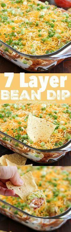 You will love this 7 Layer Bean Dip! This is the quick & easy recipe my Mom alwa. You will love this 7 Layer Bean Dip! This is the quick & easy recipe my Mom always uses for the mos Popular Appetizers, Appetizers For Party, Appetizer Recipes, Cheap Appetizers, Cheap Party Snacks, Easy Party Snacks, Quick Party Food, Mexican Appetizers Easy, Party Food Easy Cheap