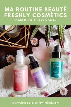 Routine Beauté Freshly Cosmétics - Blog Bordelaise By Mimi Rose Quarts, Facial Cleanser, Organic Beauty, Cosmetics, Vegan, Rose Quartz, Face Cleaning, Vegans, Face Cleanser