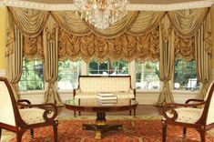 New catalogue of classic luxury curtains and luxury drapes 2018 with the best classic curtains designs and drapery designs 2018 for all rooms living room, kitchen, dining room, bedroom and bathroom curtain designs 2018 for luxury interior design French Country Curtains, French Curtains, Country French, Country Style, Latest Curtain Designs, Drapery Designs, Curtains And Draperies, Luxury Curtains, Valances