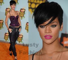 Maybe Rhianna's old hair cut is a better choice than Halle Berry???