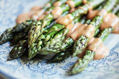 Steamed Asparagus with Grandma Weigl's French dressing