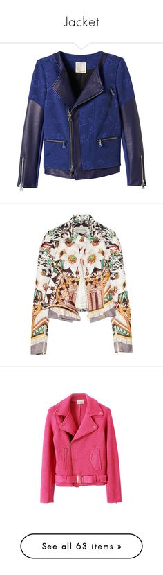 """Jacket"" by alina-chipchikova ❤ liked on Polyvore featuring outerwear, jackets, leather jacket, coats, midnight, rebecca taylor jacket, flower print jacket, floral-print bomber jackets, blue leather jackets and floral quilted jacket"