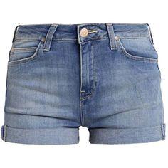 Lee HIGH SHORT Denim shorts (140 PEN) ❤ liked on Polyvore featuring shorts, urban shorts, short shorts, jean shorts, short jean shorts and denim shorts