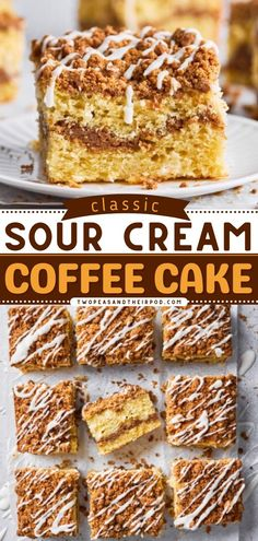 Here's the best breakfast idea for you: Sour Cream Coffee Cake! With a layer of cinnamon streusel and vanilla flavor, this cake is moist and tender. Pin this easy breakfast recipe! Breakfast Cake, Sweet Breakfast, Breakfast Ideas, Sour Cream Coffee Cake, Cake Recipes From Scratch, Big Cakes, Streusel Topping, Delicious Breakfast Recipes, Cake Flavors