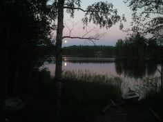 At  night in Savitaipale Finland