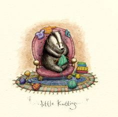 Illustrations by Anita Jeram Badger Illustration, Cute Animal Illustration, Illustration Art, Animal Drawings, Drawing Animals, Craft Quotes, Knitted Animals, Pebble Painting, Illustrations And Posters