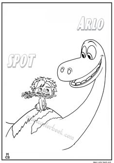 good dinosaur coloring pages free printable spot arlo 30 - Disney Dinosaur Coloring Pages