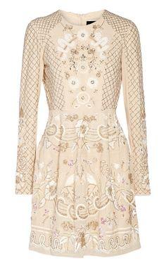 embellished chiffon mini dress