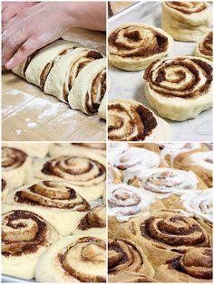 Texas-sized Cinnamon Buns #foods #recipes