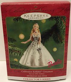 (TAS032593) - 2001 Hallmark Keepsake Christmas Ornament - Celebration Barbie