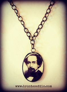 Charles Dickens on a necklace! (The storefront also features a Charlotte Bronte brooch and a Jane Austen ring.) If you could put your favorite author's likeness on a piece of jewelry, who would you choose?