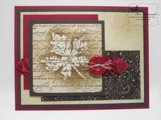 Vintage Gently Falling by TamiC - Cards and Paper Crafts at Splitcoaststampers sponged outline