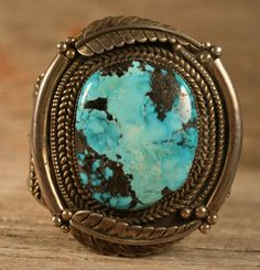 MASSIVE OLD PAWN NAVAJO NATIVE TURQUOISE CUFF BRACELET STERLING SILVER 133gr #HN