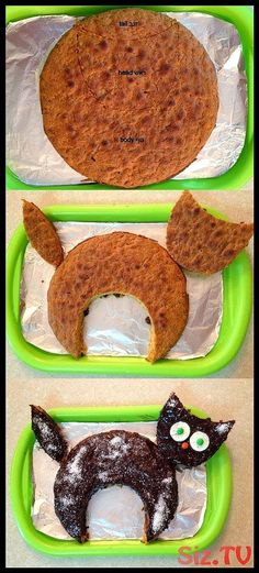 how to make a cat cake The post appeared first on Kuchen Rezepte how to make a cat cake The postappeared first on Kuchen Rezepte Creative Cakes, Creative Food, Creative Desserts, Birthday Cake For Cat, Birthday Kitty, Funny Birthday Cakes, Birthday Ideas, Cake Recipes, Dessert Recipes