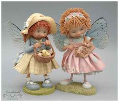 fairy puppets / fotogalerij | enaidsworld Slab Pottery, Pottery Clay, Fairy Figurines, Sculpture Clay, Ceramic Sculptures, Japanese Pottery, Polymer Clay Crafts, Handmade Pottery, Handmade Ceramic
