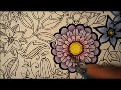 Secret Garden Coloring Book | Flowers. Part 2 CAVIAR | Jardim Secreto - YouTube