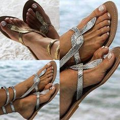 Cheap Offer for Hot style new European and American summer 2019 flat sandals snake print plus-size women's shoes If You search information f. Open Toe Sandals, Strappy Sandals, Flat Sandals, Gladiator Sandals, Women Sandals, Plus Size Womens Shoes, Cross Shoes, Bohemian Sandals, Buy Shoes