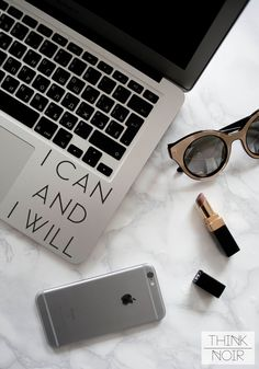 e3cb33c25df I can and I will Macbook Decal  Laptop by ThinkNoirAccessories Laptop  Decal