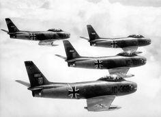 German-AF - F-86 Sabre  reg. JC-368  inflight West-Germany 1962
