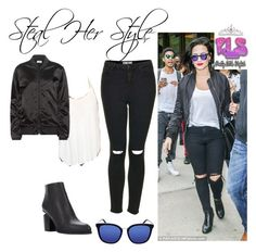 """""""Demi Lovato casual style ( Steal her style)"""" by annbs ❤ liked on Polyvore featuring Stetson, Topshop, Acne Studios, Gucci, Alexander Wang, GetTheLook, StreetStyle, casualoutfit and CelebrityStyle"""