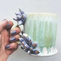 Mugs by Katie Marks of SilverLiningCeramics on Instagram and Etsy