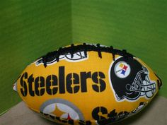 Miniature Gold PIttsburgh Steelers Football on Etsy, $5.00