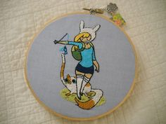 Awesome Fionna and Cake hoop!  Great use of french knots.