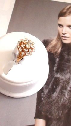 Cluster Ring Cocktail And Sparkle 18kt Heavy gold electroplated vermei | Vintageartjewelry - Jewelry on ArtFire