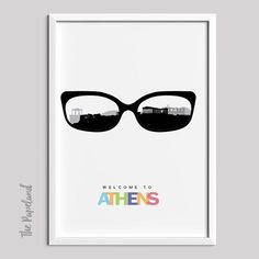 Athens City Print Instant Download Poster Printable Poster