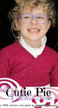 The Cutie Pie Cache-coeur FREE Pattern in sizes 2-16 (girls) - SergerPepper.com