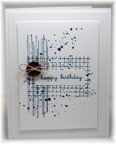 The card - some grunge (from SU), a sentiment, a button and some twine. Fun and funky! Lightening,...