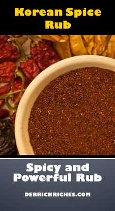 The Korean Spice Rub uses the power of Gochugaru powder to add heat and an authentic Korean flavor. You will what to use this spice rub on everything. Homemade Spice Blends, Homemade Spices, Homemade Seasonings, Bbq Seasoning, Seasoning Mixes, Asian Seasoning, Spice Rub, Spice Mixes, Dry Rub Recipes