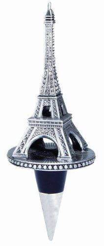 Olivia Riegel Eiffel Tower Bottle Stopper by Olivia Riegel. $54.05. 2.25-inches wide by 5.75-inches tall. Hand-set Swarovski crystals. Elegant signature gift box included. Uniquely crafted. Fits any standard sized bottle. Olivia Riegel Eiffel Tower Bottle Stopper.  Silver-tone metal finish Eiffel Tower bottle stopper with hand-set clear pave Swarovski crystals.