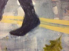 Cathrine Boman - Ekeblad II, Acryl på lerret, 30 x 40 cm