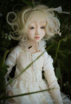 Little Gardener and Fox Handmade air-dry clay doll, OOAK by Romantic Wonders Clay Dolls, Art Dolls, Air Dry Clay, Fox, Romantic, Dreams, Disney Princess, Children, Handmade