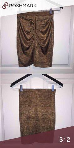 High waisted metallic cinched mini skirt High waisted metallic cinched mini skirt H&M Skirts Mini